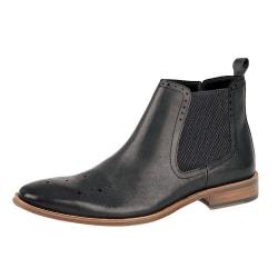 Roamers Läder Ankelstövlar för män 11 UK Svart Black 11 UK