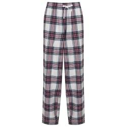 Skinnifit Tartan Lounge Pants för kvinnor / damer XS vit / rosa rutig White/Pink Check XS