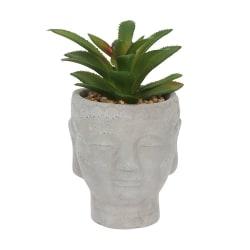 Något annorlunda Buddha Head Planter One Size Grey Grey One Size