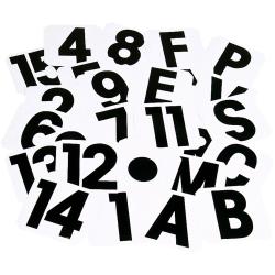 Stubbs självhäftande etikettbokstäver H svart/vit Black/White H