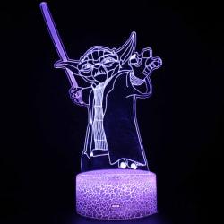 3D Illusion Star Wars Baby Yoda LED Night Light Barnleksak