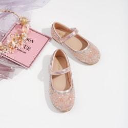 Kids Girls glänsande prinsessor skor nya prestanda kristallskor pink 26
