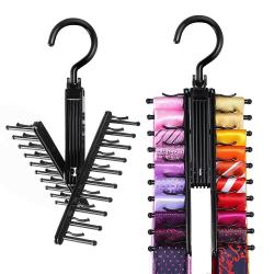 Tie Hanger Rack Organizer Rotat Belt Holder Closet Hook Storage