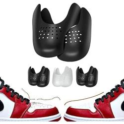 1 par sneakersköld rynkskydd fot Arch Cover skydd black 40-46