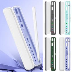 Bärbar Apple Pencil-förvaringslåda lämplig för iPad-surfplattans lock White+black