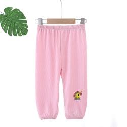 Barn sommar bekväma och avslappnade tecknade byxor pink 120cm