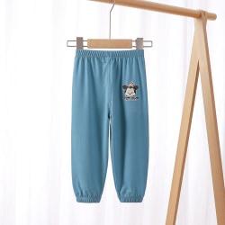 Barnens bekväma och avslappnade byxor med Mickey-tryck blue 90cm