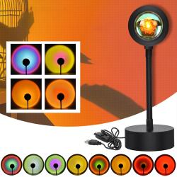 Sunset Projection LED Light Flexibel Rotation Rainbow USB Lampa