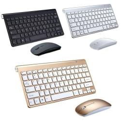 2.4G trådlöst tangentbord och muskombination för bärbar stationär PC silver