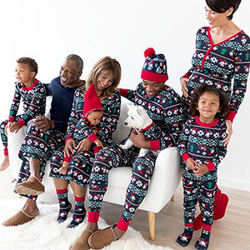 Julpyjamas set - pojke flicka baby mamma pappa pyjamas - Julpyja Mom L