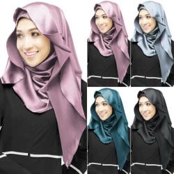 Halsduk för kvinnor Hijab Sarong Turban Halsduk Dark Green 140*70CM