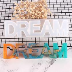 DIY DREAM Sign silikonhartsgjutform gjuter hantverktyg