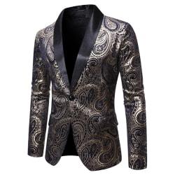 Herrrockar Business Formell Blazer Host Club Wear Party Suit Black M