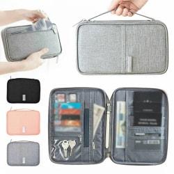 Familjens researrangör Passportdokumenthållare FID-kortbiljett black S
