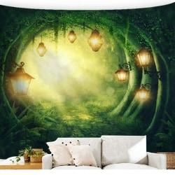 Dekor för vardagsrum för fantasiskogslandskap B