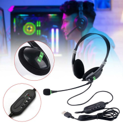 Fällbart headset, trådbundet brusreducerande headset med mikrofon