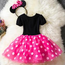 Girls Minnie pettiskirt - prinsessa födelsedagsfestklänning - Flick rose red 110cm
