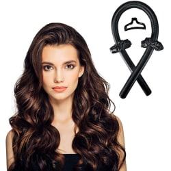 Heatless Curling Rod Headband _ DIY curling hair tools _ Heatle black