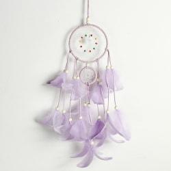 Hemvägghängande dekorationsgåva vävd av fjäderdrömfångare Purple