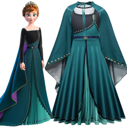 Princess Anna klänning kjol - Kid kostym - flickor kjol - Prince green 140cm