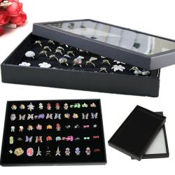Ringörhängen Smycken Display Förvaringslåda Fyrkantig fackhållare