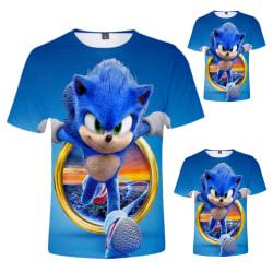 Sonic The Hedgehog 3D-tryckt kortärmad topp för barn 120cm