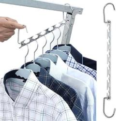 Platsbesparande hängare med krok 6-håls garderob förvaringsställ