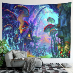 Tapestry Forest Mushroom Wall Mounted Home Decor 200cm*150cm