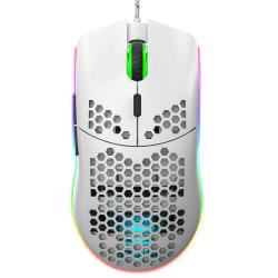 USB-datormus LED-glödande spelmus (vit) white