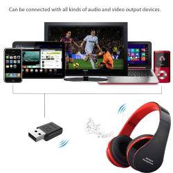 Trådlöst TV-headset, HiFi Bluetooth djup bas med startpinne black