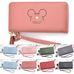 plånbok _ Mickey Mouse läderplånbok för kvinnor _ Handväska med kort Blue