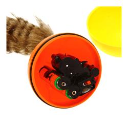 Kattleksak elektrisk älvmus fluffig bäverboll