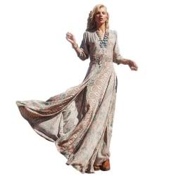 Vintage boho lång klänning cocktailklänning XXXXL