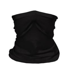 Klassisk bandana med filterficka (tio extra kolfilter) Black one size