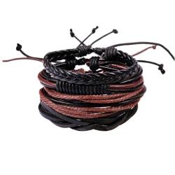 Armbandsset - 4 delar Black one size