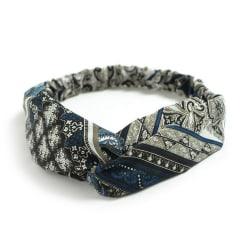 Elastiskt Mönstrat hårband / pannband med knut MultiColor one size