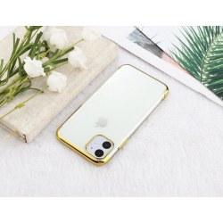 Elektropläterat TPU-skal iPhone 12/12 Pro med två skärmskydd. Guld