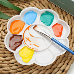 3PCS 10 Well Paint Palettblad Tray Draw Akvarell Oljemålning 13cm 3pcs
