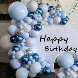 100: a Blue Balloon Arch Set födelsedag Ballon Kit Party Decor