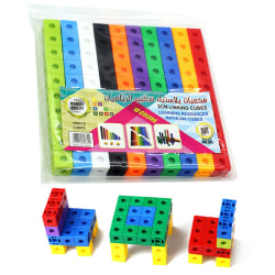 100x Maths Link Cubes Connection Block Game Kids Family Toy Gift