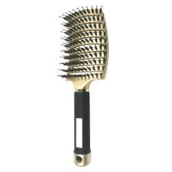 2 i 1 Detangler Hair Brush Women Hair Comb Brush Styling Tools golden