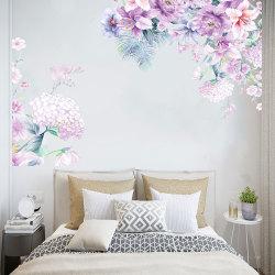 Självhäftande blomma väggdekaler Vardagsrum sovrum dekaler