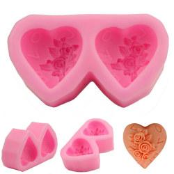 3D Rose Heart Shape Silikonform DIY Craft Soap Candle Mold