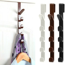 5 krokar över dörren Hängarkrok Kläder Förvaring Hållarehandduk Black
