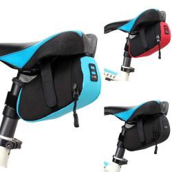 Mountain Bike Bag Pouch Road Bicycle Seat Saddle Bags Tools Kit black