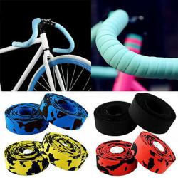 Självhäftande Sticky Bike Road Cork styrbälten Wrap Grip Cykel black&red