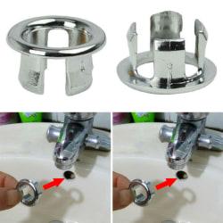 Badrum Handfat Sink Trimring Avloppshålskydd Inlägg Runt 1pc