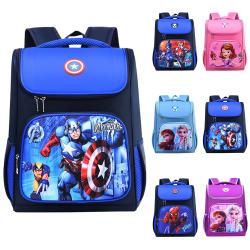 Småbarn barn 3D tecknad ryggsäck axelryggsäck skolväska Captain America