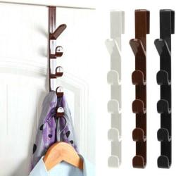 5 krokar över dörren Hängarkrok Kläder Förvaring Hållarehandduk White
