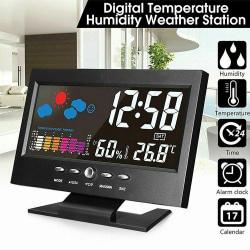 Färgdisplay Digital väckarklocka Kalender termometer väder